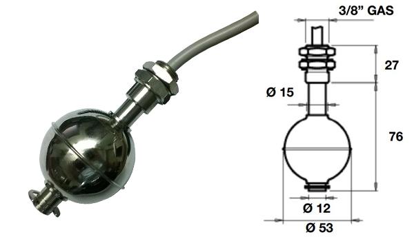 phao báo mức nước, phao báo mức dầu: ILM.2