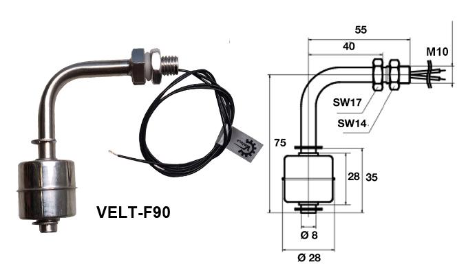 Phao bao mức nước VELT-F90