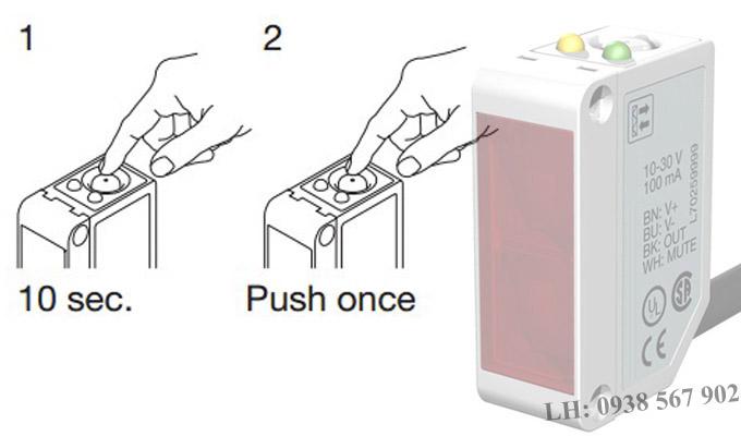 Cài đặt trạng thái ngõ ra dễ dàng trên nút nhấn tích hợp.