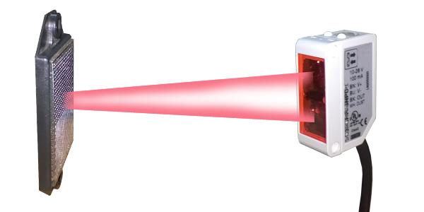 Cảm biến quang sử dụng với loại kính chuyên dùng.