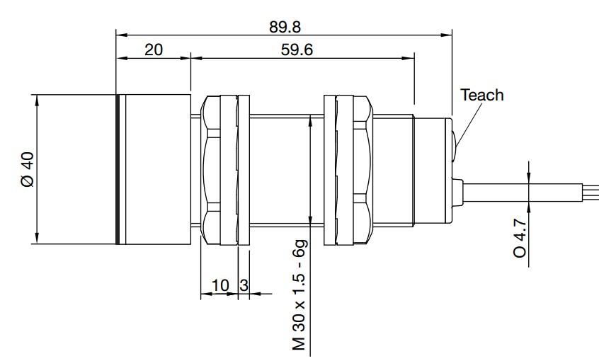 Thông số kích thước cảm biến siêu âm