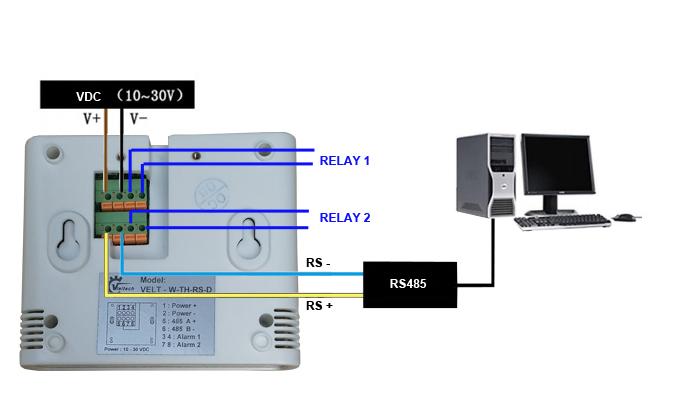 Cảm biến đo và hiển thị nhiệt độ, độ ẩm không khí RS485