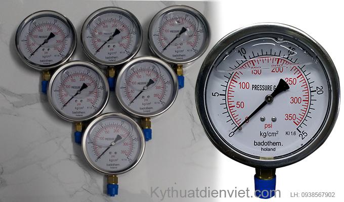 Đồng hồ đo áp suất nước, đồng hồ đo áp suất dầu.