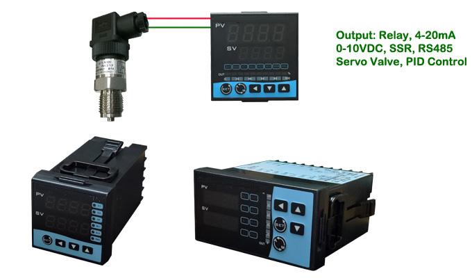 Công tắc áp suất, relay áp suất kiểu hiển thị.