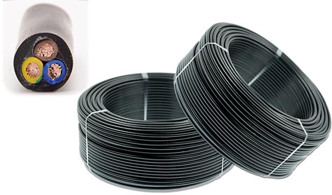 Dây điện nhiều lõi với lớp vỏ bọc ngoài màu đen