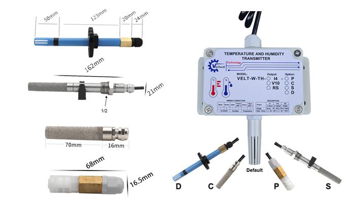 Các loại đầu đo của cảm biến nhiệt độ