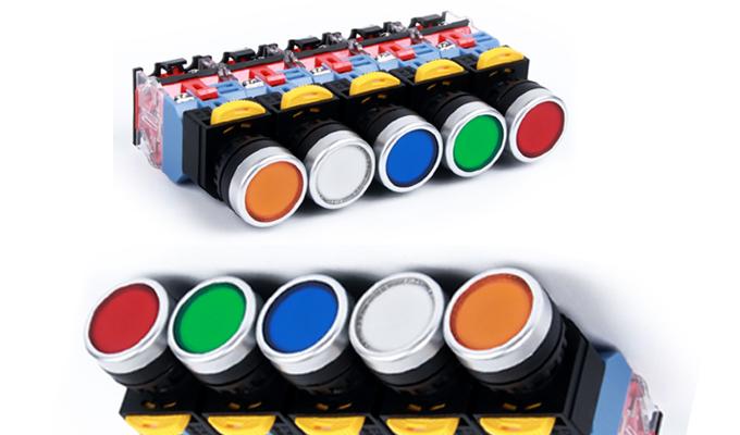 Các loại màu sắc của nút nhấn có đèn.